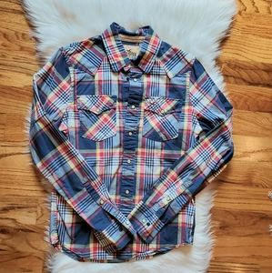 Hollister plaid shirt size small